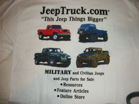 JeepTruck.com Concept Truck tshirt