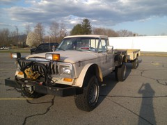1988 Jeep J20 with M101 Trailer