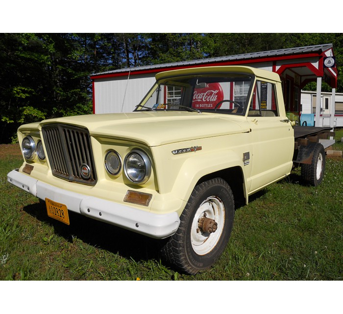 1967 Kaiser Jeep Gladiator J-2000 Flatbed Truck 4WD with 327 V-8 Vigilante Engine (the original engine).